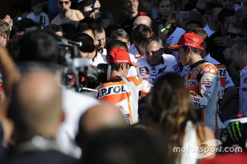 2. Marc Marquez und 3. Dani Pedrosa, Repsol Honda Team