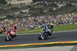 Valentino Rossi, Yamaha Factory Racing en Michele Pirro, Ducati Team