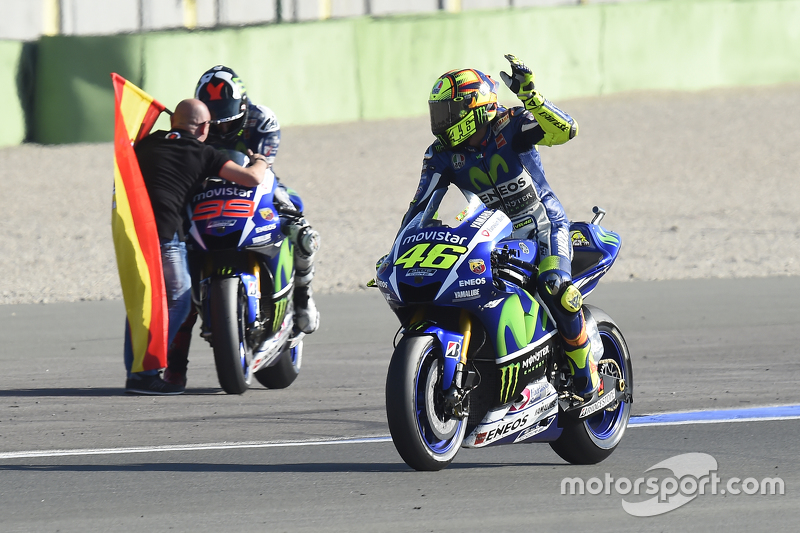 Valentino Rossi, Yamaha Factory Racing and winner and 2015 World Champion Jorge Lorenzo, Yamaha Fact