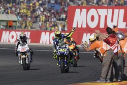 Valentino Rossi, Yamaha Factory Racing en Nicky Hayden, Aspar Team MotoGP Honda