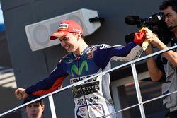 Podium : Jorge Lorenzo, Yamaha Factory Racing, vainqueur de la course et champion du monde
