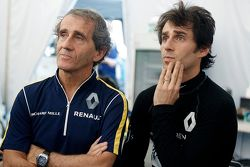 Alain Prost and son Nicolas Prost, Renault e.Dams