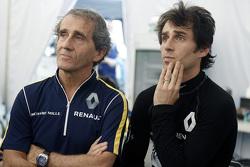 Alain Prost mit Sohn Nicolas Prost, Renault e.Dams