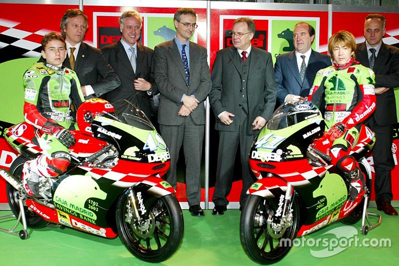 2002: 125cc, 21º - Jorge Lorenzo e Youichi Ui, Derbi - Caja Madrid Derbi Racing