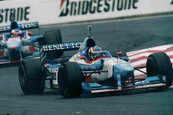 Alexander Wurz and Jean Alesi, Benetton