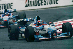 Alexander Wurz and Jean Alesi, Benetton
