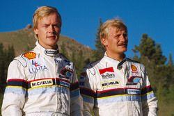 Ari Vatanen, Peugeot 405 Turbo 16 and Juha Kankkunen, Peugeot 405 Turbo 17