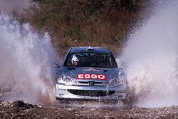Marcus Grönholm und Timo Rautiainen, Peugeot Sport, Peugeot 206 WRC