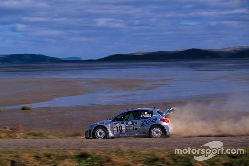 Marcus Gronholm, dan Timo Rautiainen, Peugeot Sport Peugeot 206 WRC