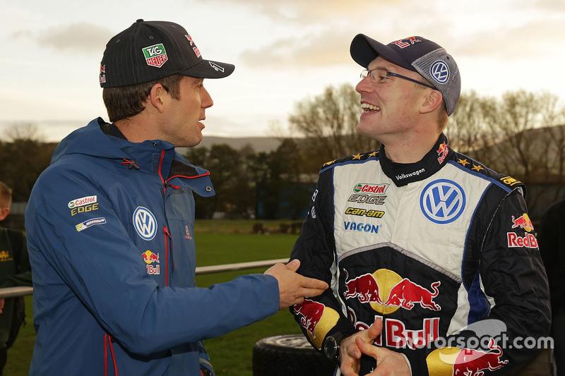 Sébastien Ogier, Volkswagen Motorsport, mit Jari-Matti Latvala, Volkswagen Motorsport
