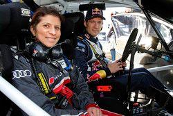 Sébastien Ogier, Volkswagen Motorsport with Leena Gade, race engineer Audi Sport Team Joest