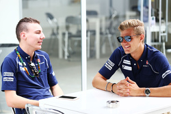 (L to R): Raffaele Marciello, Sauber F1 Team Test And Reserve Driver with Marcus Ericsson, Sauber F1 Team
