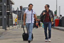 Felipe Massa, Williams con Nicolas Todt, el administrador de pilotos