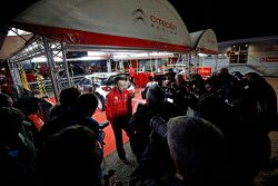 Kris Meeke, Citroën World Rally Team avec la presse