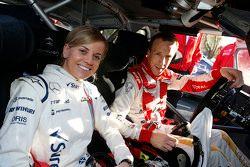 Kris Meeke, Citroën World Rally Team avec Susie Wolff