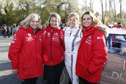 Carole Barret, Clémence Bernard, Marie-Pierre Rossi, Citroën World Rally Team, und Susie Wolff
