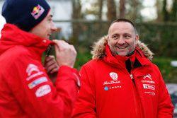Stéphane Lefebvre, Citroën World Rally Team en Yves Matton, Citroën Racing teambaas