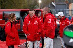 Marie-Pierre Rossi avec Kris Meeke et Paul Nagle, Citroën World Rally Team
