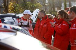 Kris Meeke, Citroën World Rally Team et Yves Matton, Team Principal Citroën Racing