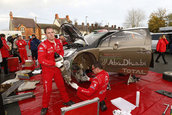 Citroën World Rally Team, Mechaniker bei der Arbeit