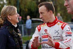 Susie Wolff avec Kris Meeke, Citroën World Rally Team