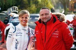 Susie Wolff con Yves Matton, Citroën Racing Team Principal