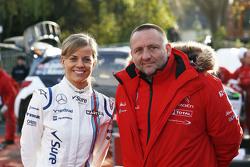 Сьюзи Вольф и Ив Маттон, руководитель Citroën Racing Team