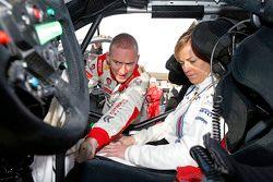 Susie Wolff ile Paul Nagle, Citroën World Rally Takımı