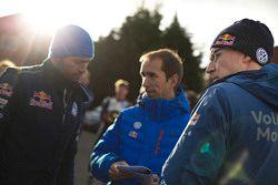 Fabrice Van Ertvelde, Volkswagen Motorsport, Chefingenieur, mit Jari-Matti Latvala, Volkswagen Motorsport