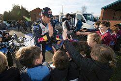 Sébastien Ogier, Volkswagen Motorsport with young fans