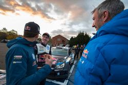 Sébastien Ogier met Jari-Matti Latvala, Volkswagen Motorsport