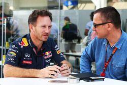 Christian Horner, Red Bull Racing Teamchef mit Jonathan Noble, Motorsport.com Redakteur