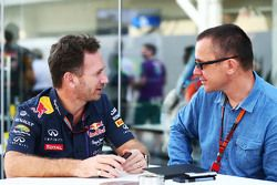 Christian Horner, Red Bull Racing Team com Jonathan Noble, editor do Motorsport.com