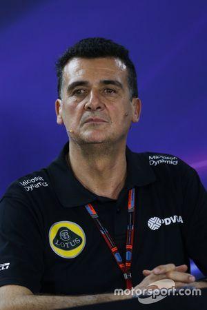 Federico Gastaldi, Directeur adjoint Lotus F1 Team lors de la Conférence de presse de la FIA