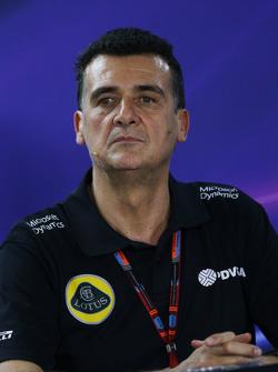 Федерико Гастальди, руководитель Lotus F1 Team на пресс-конференции FIA
