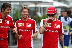 Massimo Rivola, Directeur sportif Ferrari avec Sebastian Vettel, Ferrari et Kimi Raikkonen, Ferrari