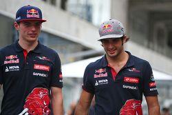 Max Verstappen, Scuderia Toro Rosso avec Carlos Sainz Jr., Scuderia Toro Rosso