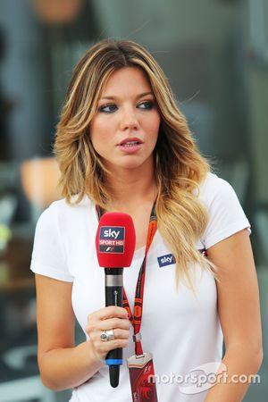 Federica Masolin, Presentatrice Sky F1 Italia