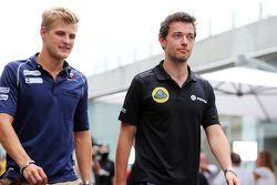 Marcus Ericsson, Sauber F1 Team avec Jolyon Palmer, Pilote de réserve et d'essais Lotus F1 Team