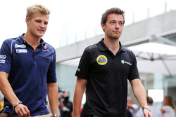 Marcus Ericsson, Sauber F1 Team con Jolyon Palmer, Lotus F1 Team Piloto de Pruebas y de Reserva