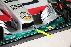 Aileron avant de la Mercedes AMG F1 W06