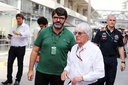Bernie Ecclestone, with Luis Garcia Abad, Driver Manager