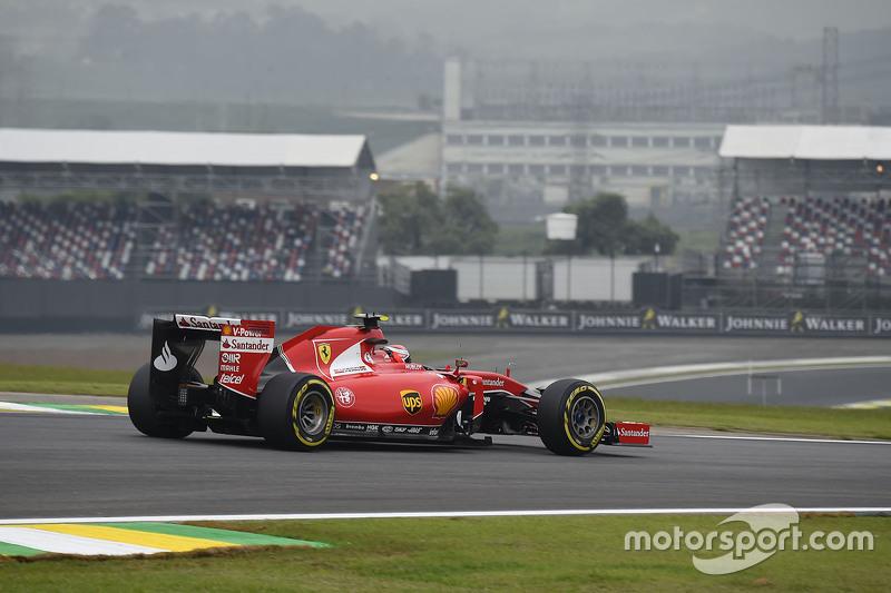 Kimi Raikkonen en Interlagos