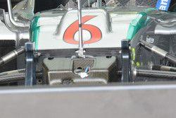 Mercedes W06 Hybrid, dettaglio della sospensione anteriore