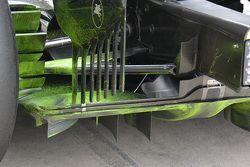 McLaren MP4-30, dettaglio della vernice flow viz sul retrotreno
