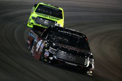 Erik Jones, Kyle Busch Motorsports Toyota leads and Matt Crafton, Thorsport Racing Toyota