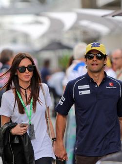 Фелипе Наср, Sauber F1 Team со своей девушкой Джулией Марией Тестони