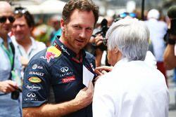 Christian Horner, Teamchef Red Bull Racing, mit Bernie Ecclestone
