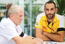 Dr Helmut Marko, Red Bull Motorsport com Cyril Abiteboul, Renault Sport F1