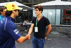 (L to R): Felipe Nasr, Sauber with Pedro Piquet, Racing Driver and son of Nelson Piquet